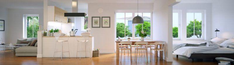 La luz natural y espacios bien aprovechados es lo más importante en los ambientes integrados
